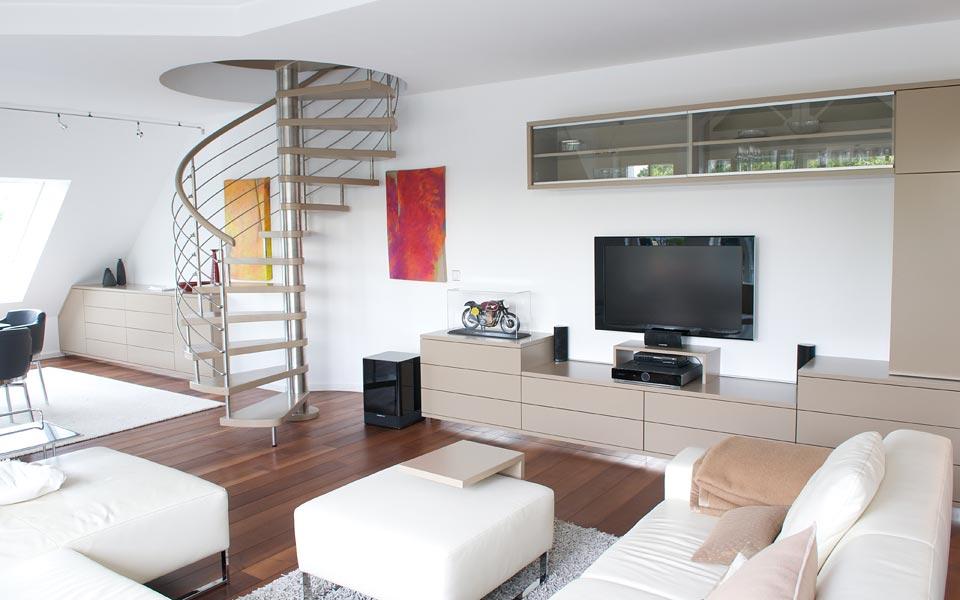 kienholz objektbau maisonette wohnung m nchen referenz im bereich konzeption planung. Black Bedroom Furniture Sets. Home Design Ideas
